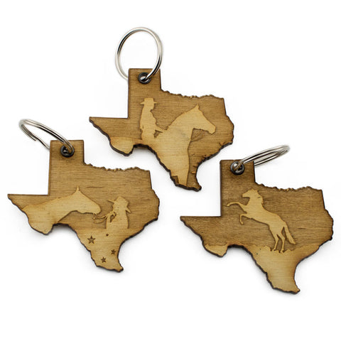 Texas Cowgirl Keychain 3 Pack