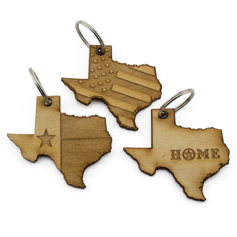 Texas Home Keychain 3 Pack