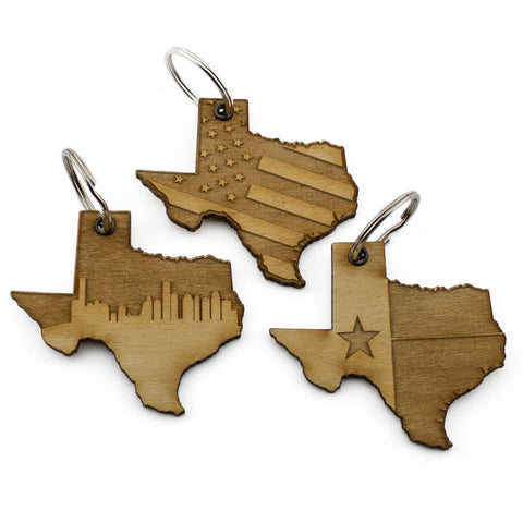 Texas Patriot Keychain 3 Pack