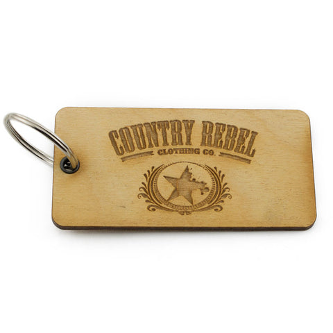 Country Rebel Official Logo Keychain