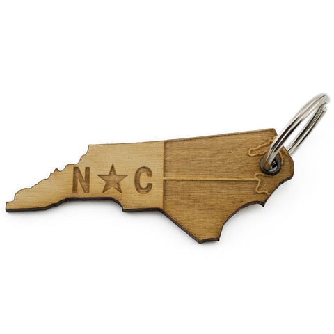 North Carolina State Flag Keychain