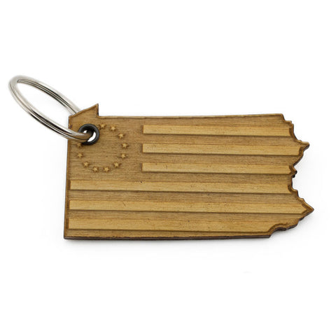 Pennsylvania Betty Ross Flag Keychain
