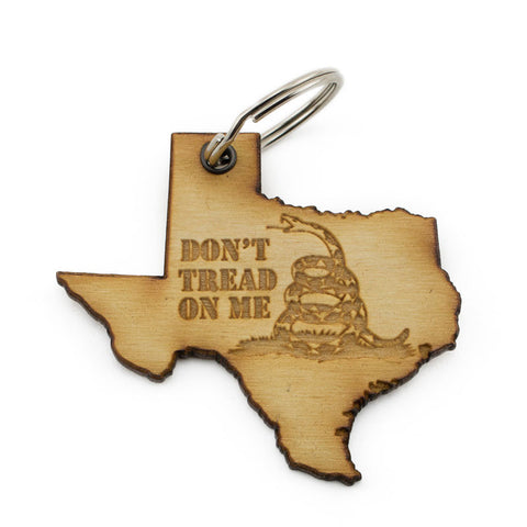 Texas Don't Tread On Me Keychain