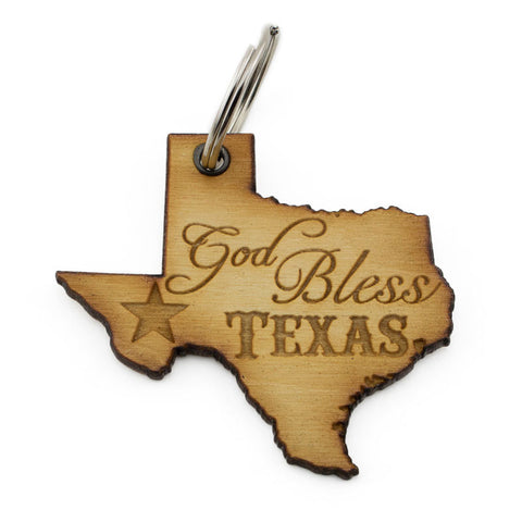 God Bless Texas Keychain