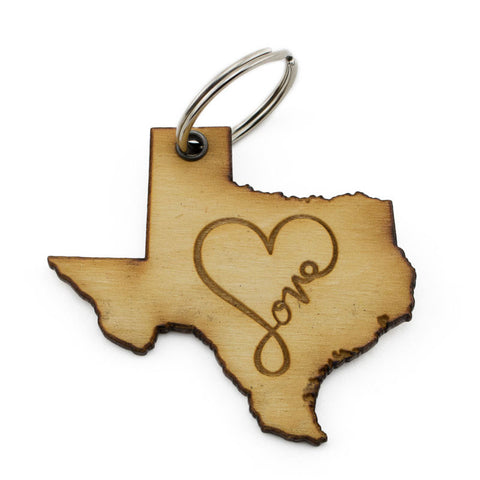 Texas Love Keychain