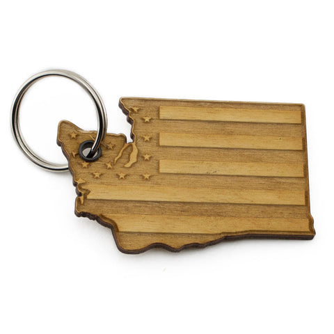 Washington American Flag Keychain