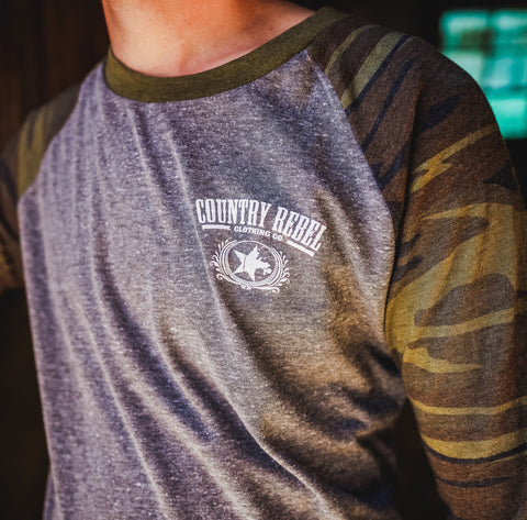 Camo 3/4 Sleeve Shirt