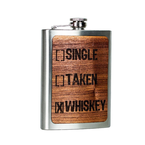 Single Taken Whiskey Flask