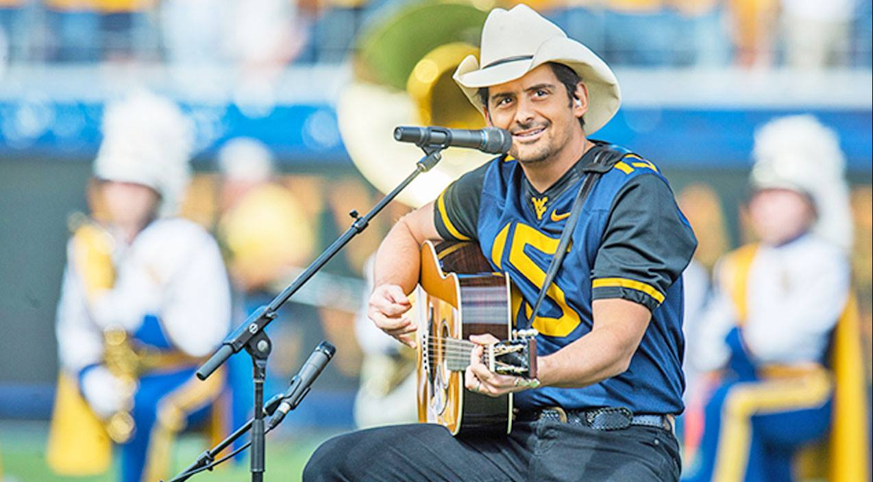 Modern country Songs | Brad Paisley Surprised 60,000 Football Fans With A John Denver Classic | Country Music Videos