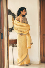 Load image into Gallery viewer, Farda Gold Tissue Saree