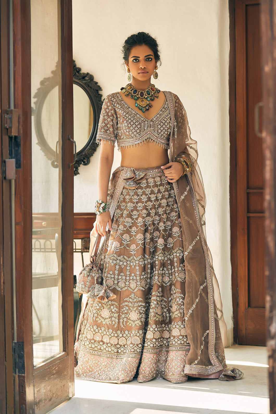 The Golden Princess Lehenga
