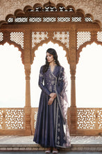 Load image into Gallery viewer, Charcoal Farshi Anarkali Set