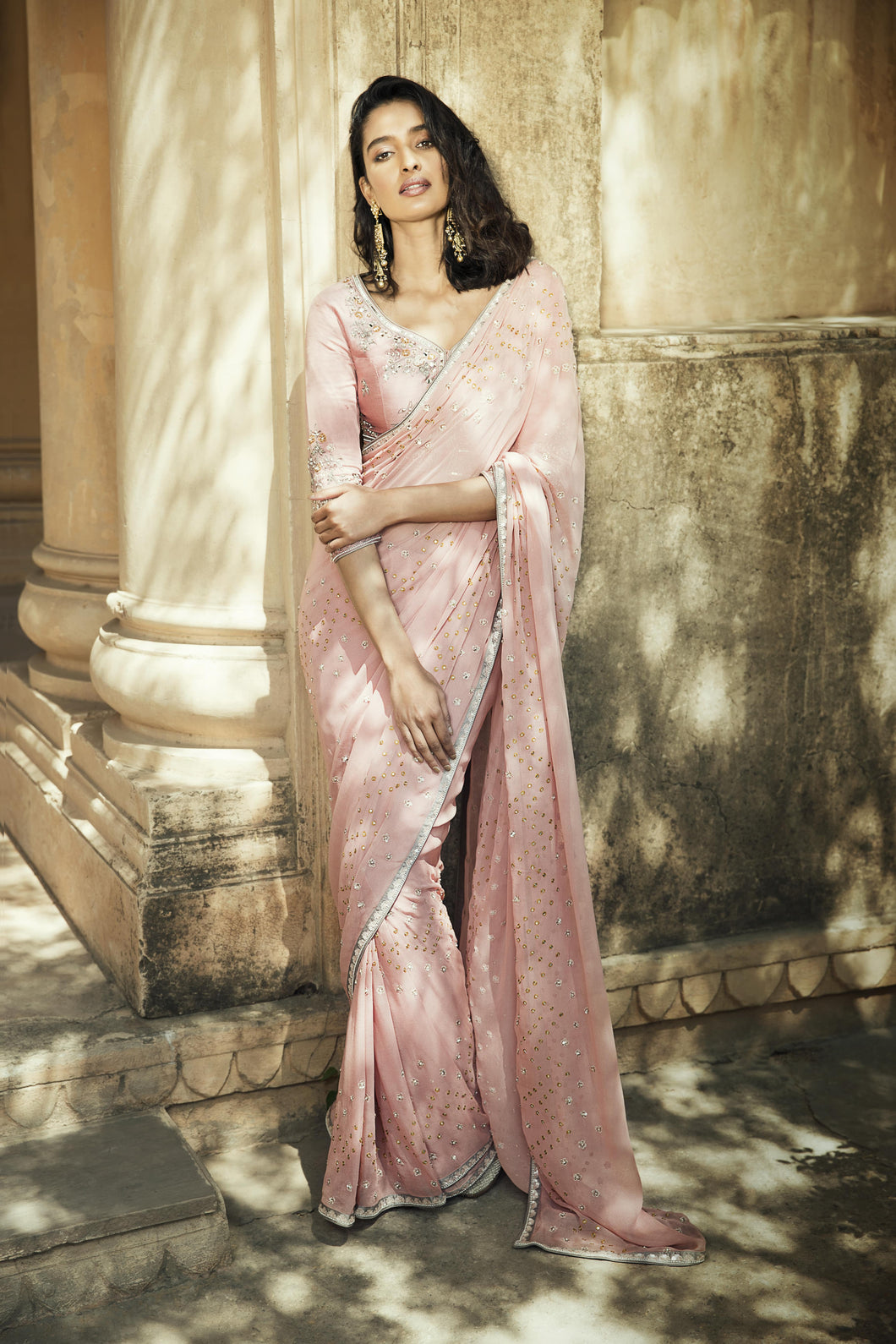 The Suhaani Old Rose Saree