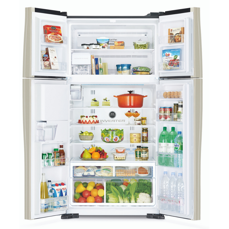 Hitachi 586L Side By Side Refrigerator R-W660PND7 (GBK)