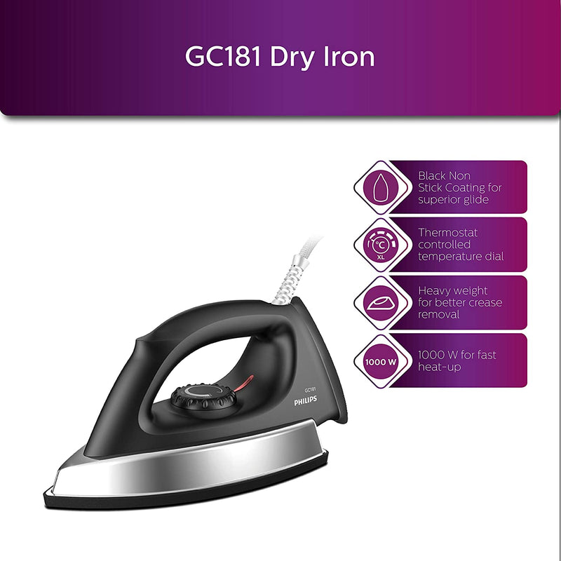 Philips 1000W Dry Iron GC181/80