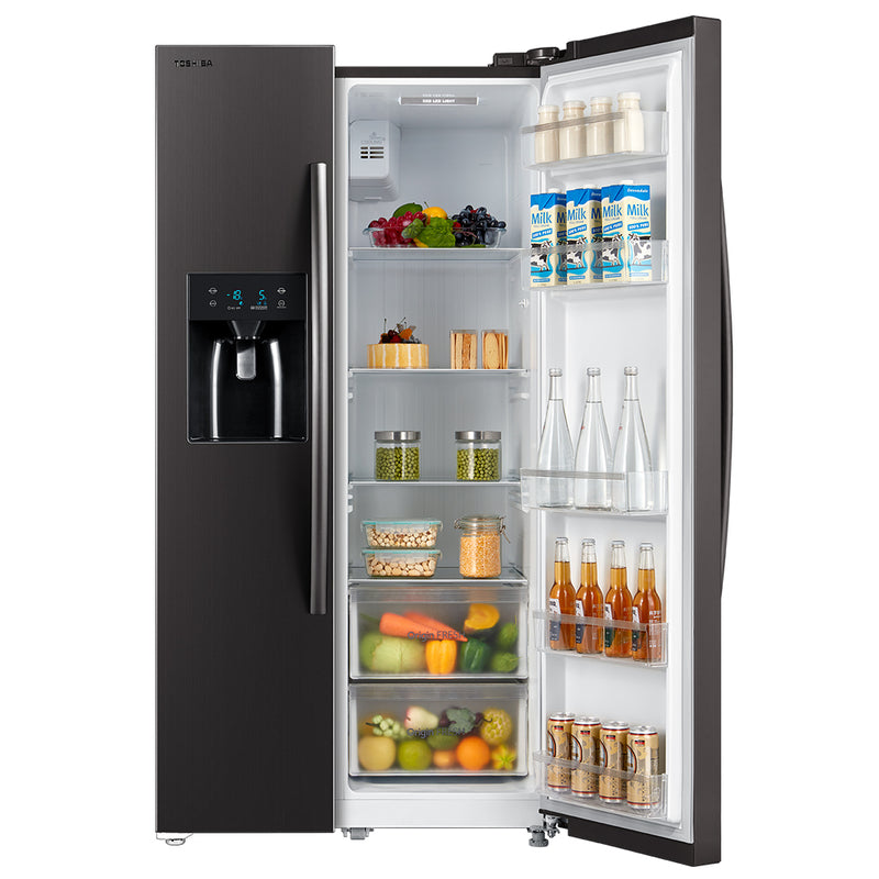 Toshiba 573L Side By Side Refrigerator GR-RS508WE-PMI