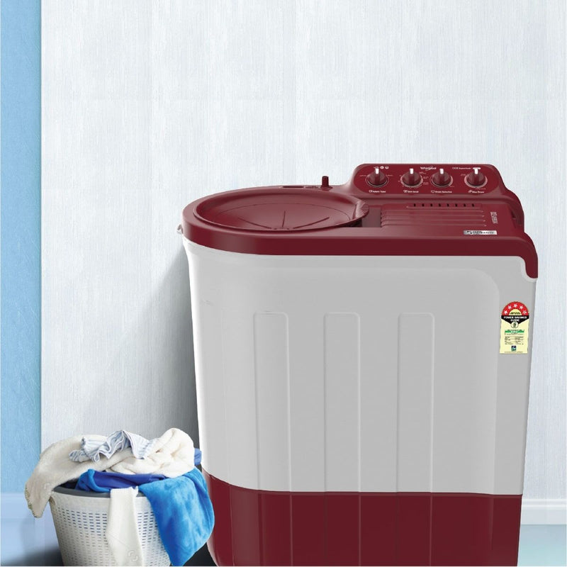 Whirlpool Ace 7.5KG SuperSoak Semi-Automatic Washing Machine (Coral Red)