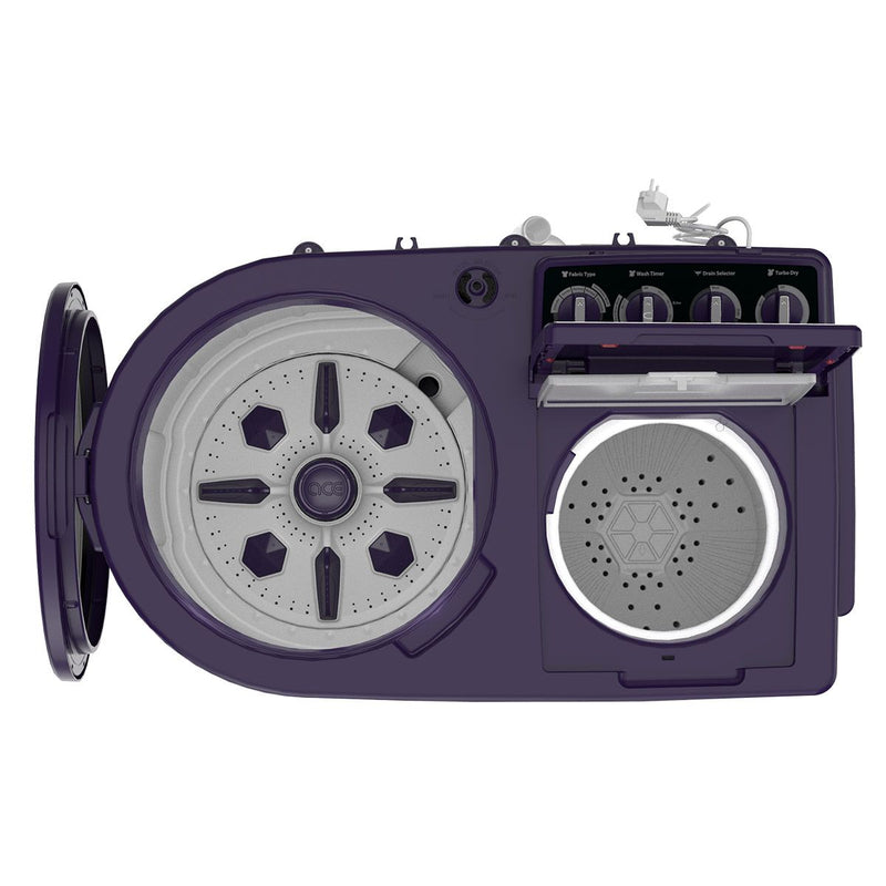 Whirlpool Ace XL 9.5KG Semi-Automatic Washing Machine (Purple)