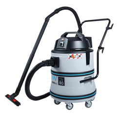 Powerful 2400 Watt Dust Extractor for Workshops and Factory large scale cleanups - MAXVAC Dura DV80-LBN