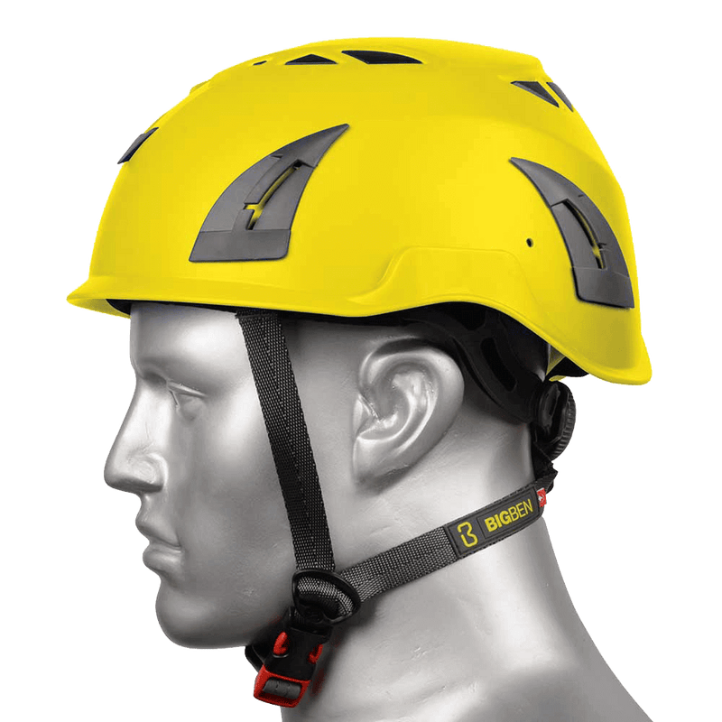 BIG BEN Ultralite Unvented Height Safety Helmet, Yellow, PP-B-HH100YW