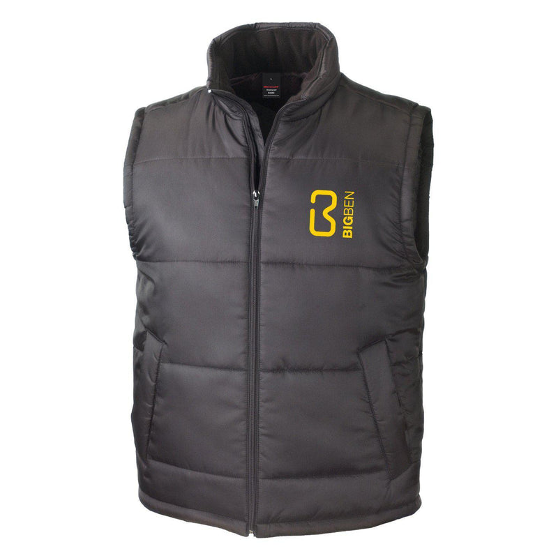 BIG BEN® Soft Padded Sleeveless Gilet, Black