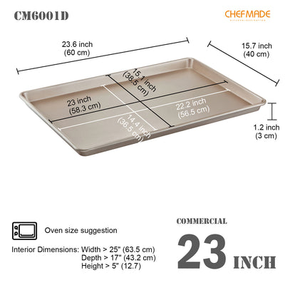"15"" x 23"" Commercial Baking Sheet (Swallow Edge)"