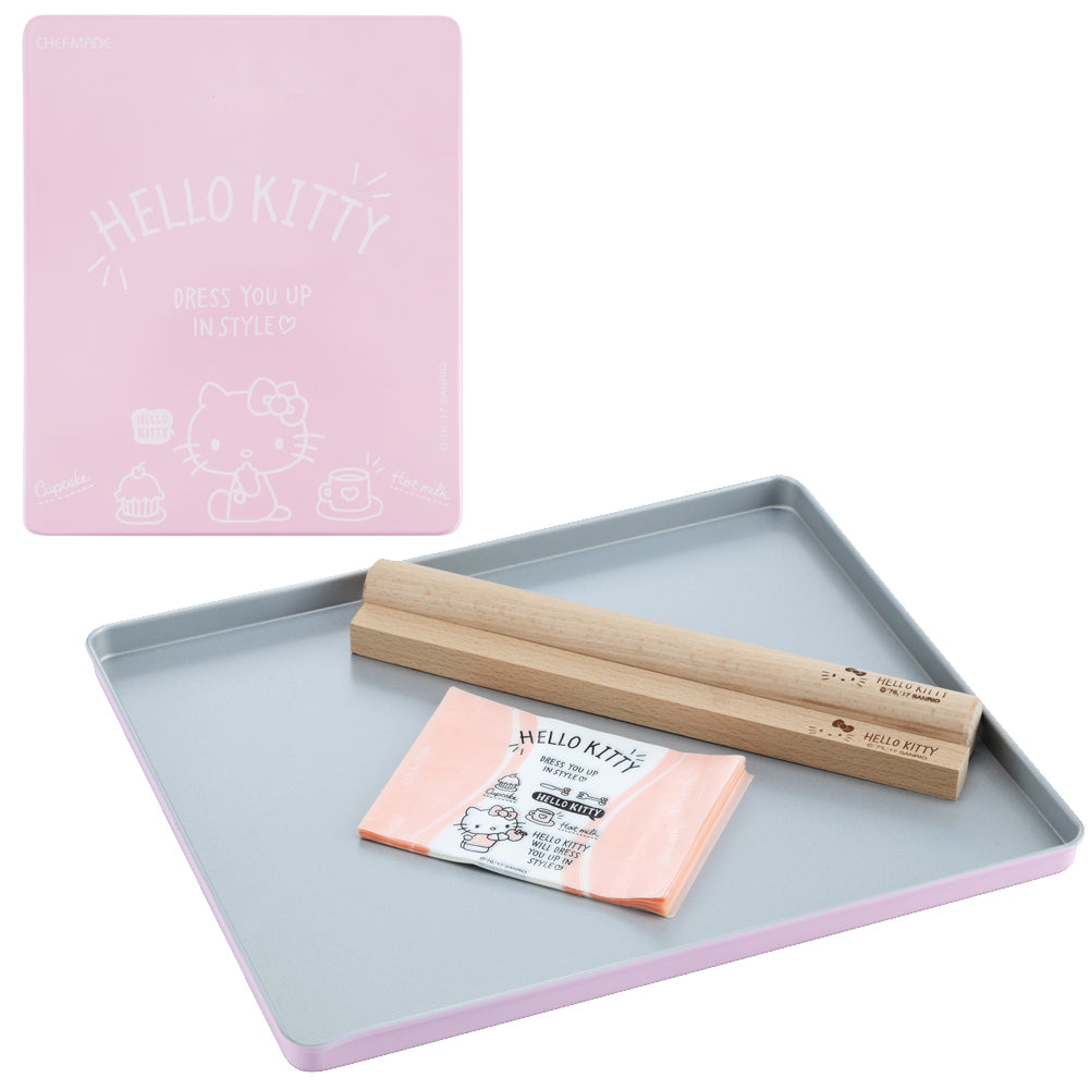"10.1"" x 12.1"" Hello Kitty Jelly Roll Pan with Wooden Sticks"