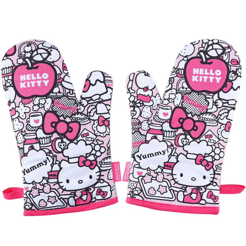Hello Kitty Camouflage Oven Gloves 2Pcs