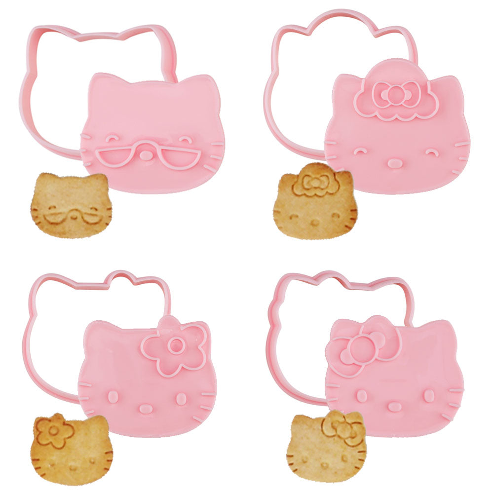 Hello Kitty Cookie Mold 4Pcs