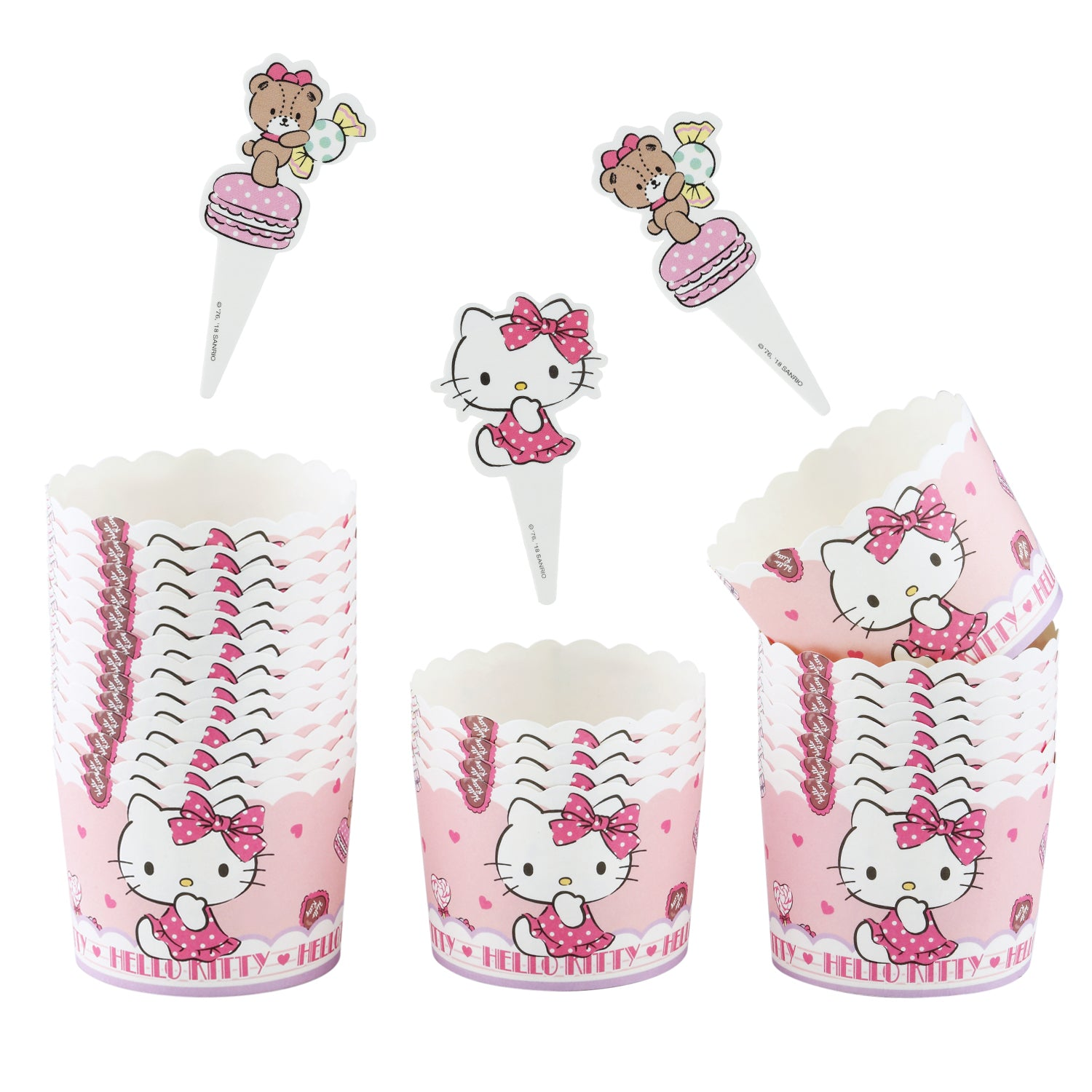 Hello Kitty Girl Muffin Liners 25Pcs