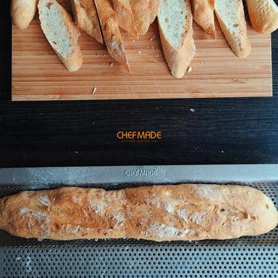 "9.5"" x 15"" Baguette Pan (2-Inch Channel)"