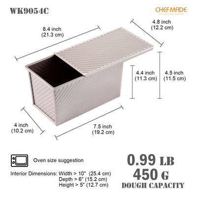 "4"" x 7.5"" Corrugated Toast Box (450G Dough Capacity)"