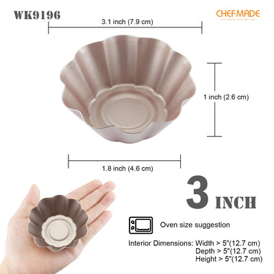 "3"" Mini Pie Pan Set Flower-Shaped 4Pcs"