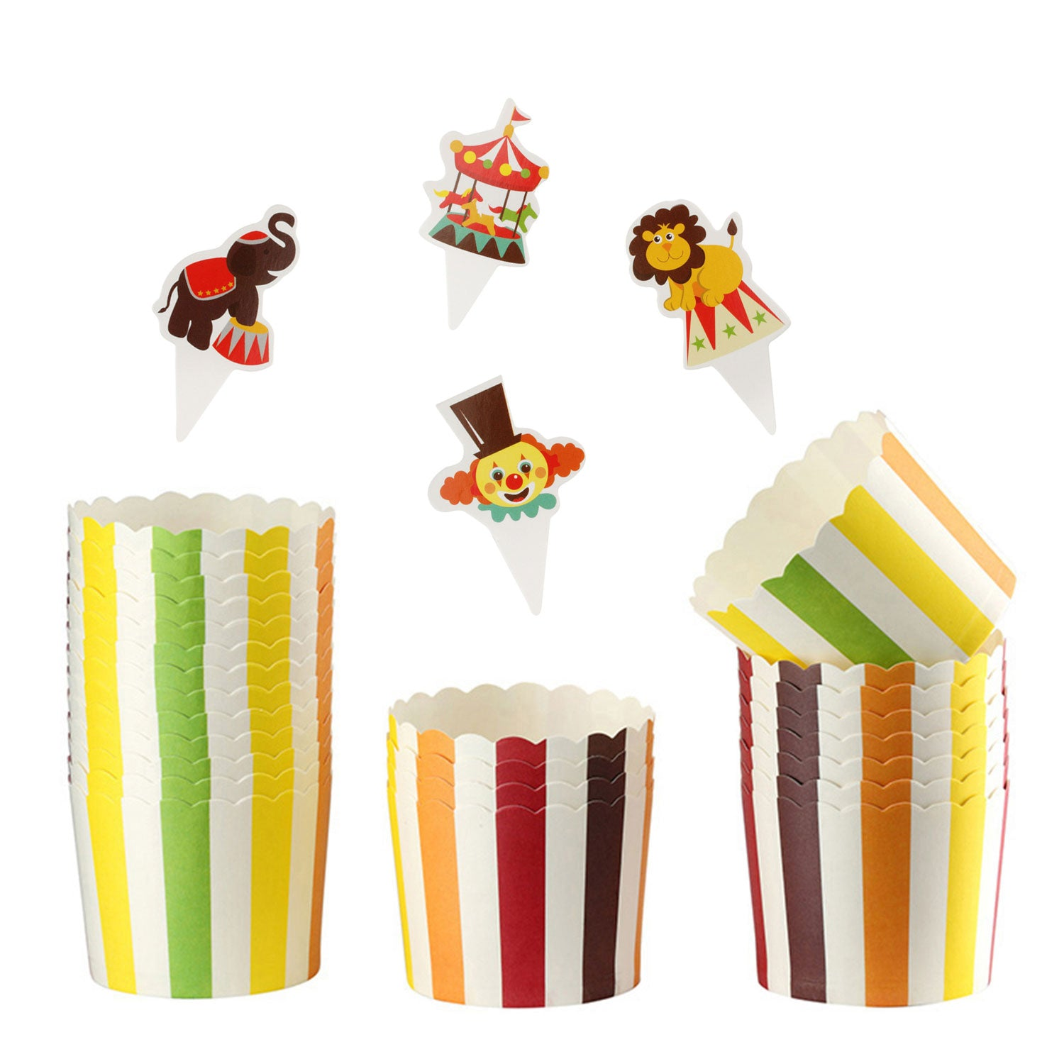 Rainbow Circus Printed Muffin Liners 25Pcs