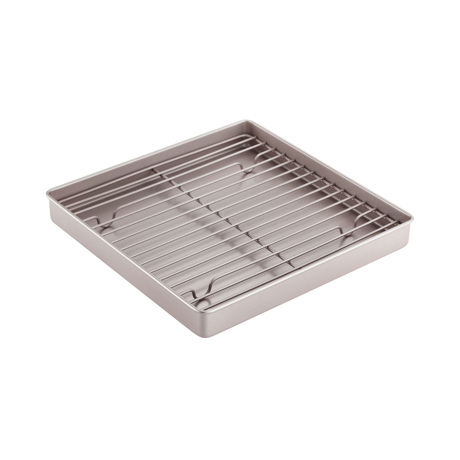 "11.2"" x 11.2"" Square Shallow Roasting Pan with Rack"