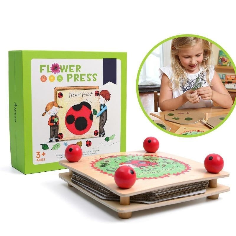 Velany™ Wooden Flower and Leaf Press Nature Educational Toys