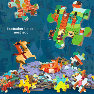 Velany™ Advanced Puzzles Tangram Jigsaw Puzzles Animals Seasons Vehicles
