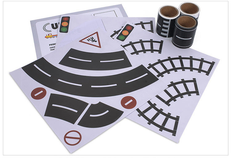 Velany™ 4 Styles Traffic Sticker Road Signs