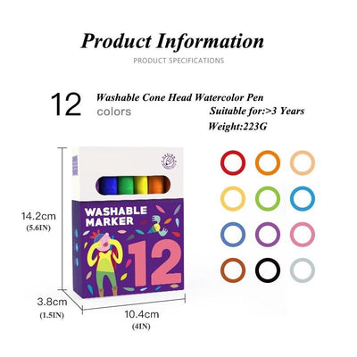 Velany™ 12/24/36/48PCS Watercolor Drawing Painting Art Marker Pens