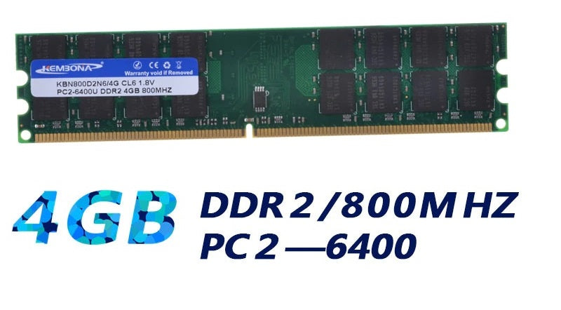 RAM Memory DDR2 800MHz 4GB Desktop PC