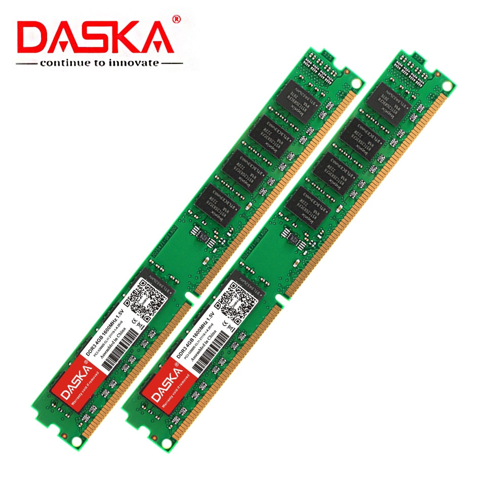DDR3 RAM 8GB 4GB 2GB of 1600/1333 MHz PC3-12800/10600 Desktop