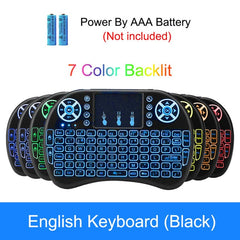 Keyboard backlit English Russian Spanish Air Mouse