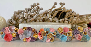 Multicolour 'Rock Coral' Ring collection #2 - Choose a Size