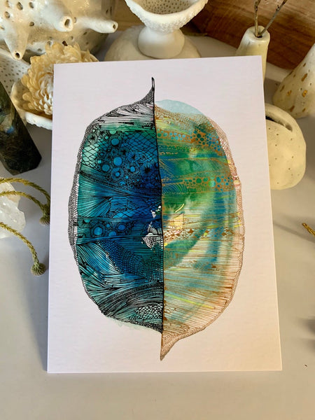 'Divided' greeting card