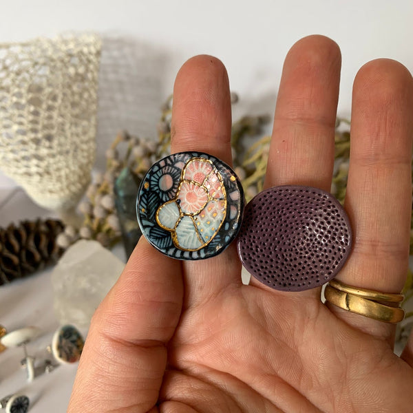 'Rock coral' round top ring, choose one