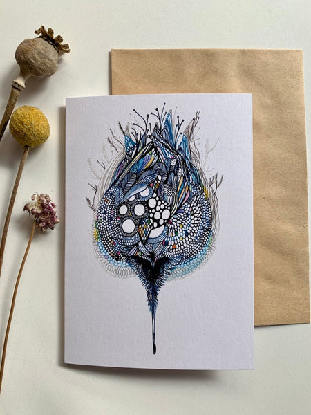 'Blue pod' greeting card