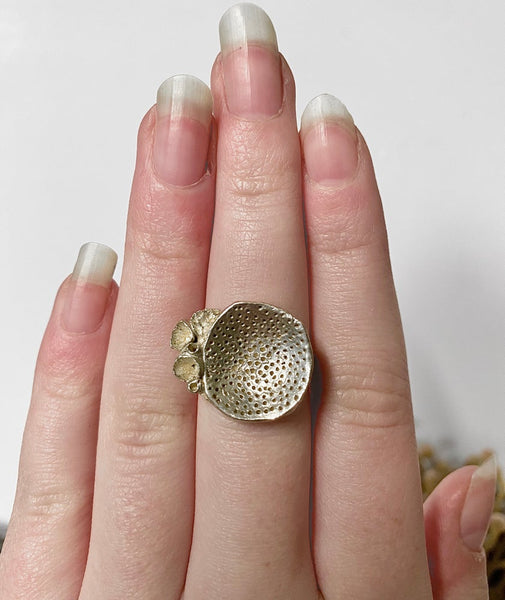 "Sterling Silver ""Rock Coral"" Ring #2"