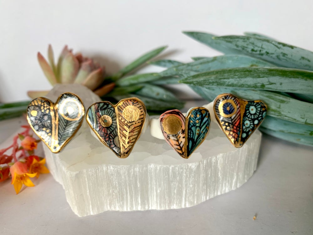 'Wings' porcelain ring, choose one