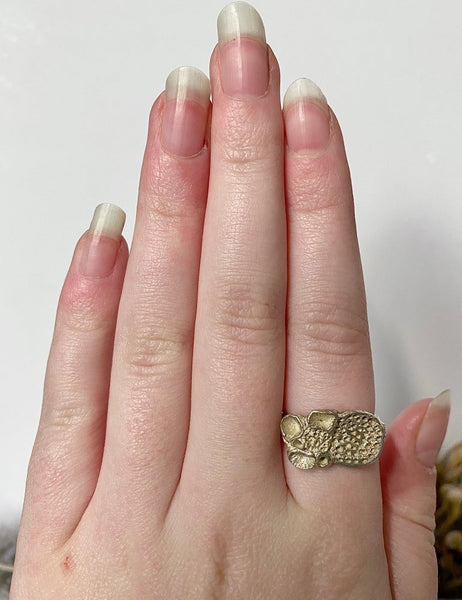 "Sterling Silver ""Rock Coral"" Ring"
