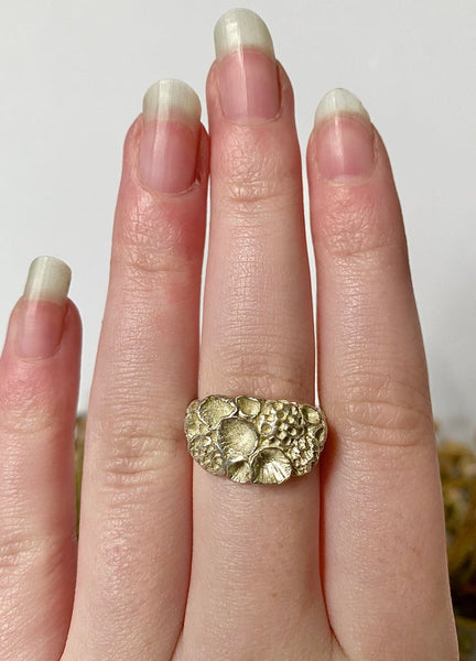"Sterling Silver ""Rock Coral"" Ring #4"